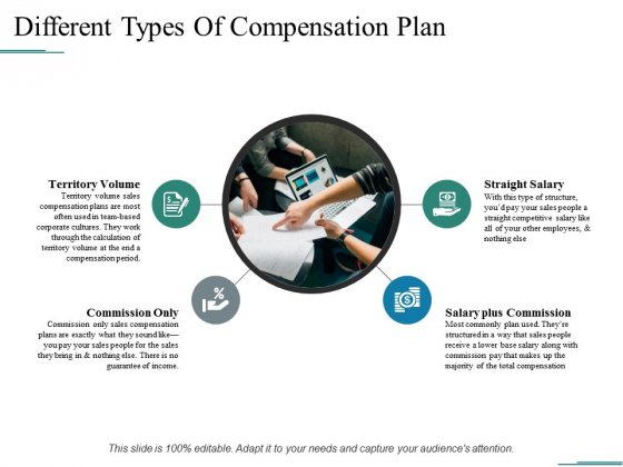 Different Types Of Compensation Plan Ppt PowerPoint Presentation Inspiration Portfolio
