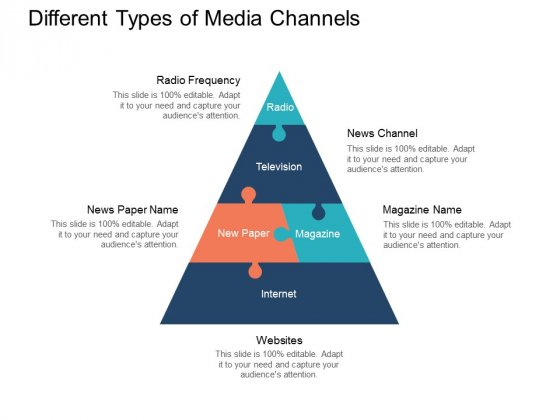 Different Types Of Media Channels Ppt PowerPoint Presentation Pictures Portrait