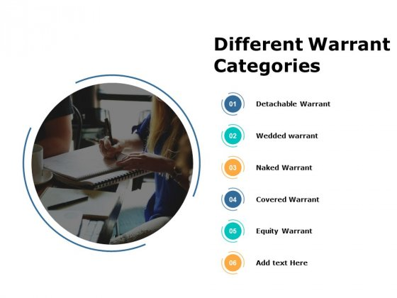 Different Warrant Categories Equity Warrant Ppt PowerPoint Presentation Visual Aids Professional