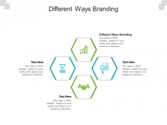 Different Ways Branding Ppt PowerPoint Presentation Show Graphic Tips Cpb Pdf