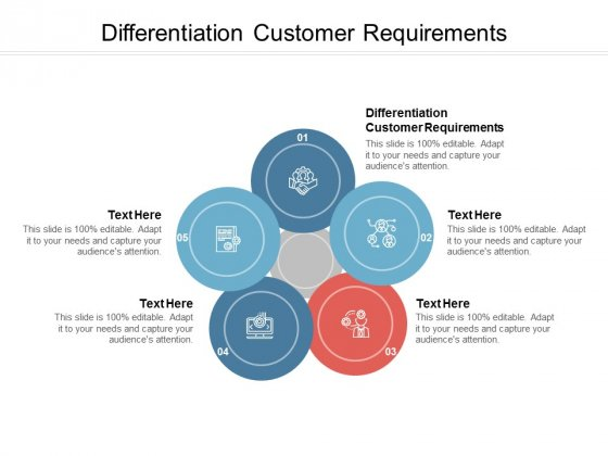 Differentiation Customer Requirements Ppt PowerPoint Presentation Gallery Visuals Cpb