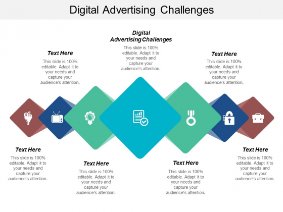 Digital Advertising Challenges Ppt PowerPoint Presentation Visual Aids Diagrams Cpb