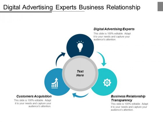 Digital Advertising Experts Business Relationship Transparency Customers Acquisition Ppt PowerPoint Presentation Icon Templates