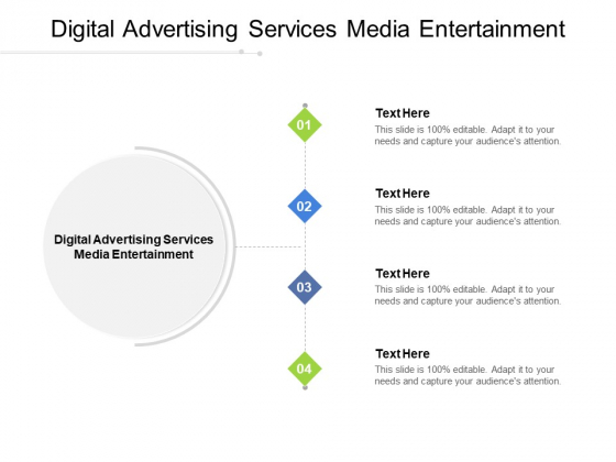 Digital Advertising Services Media Entertainment Ppt PowerPoint Presentation File Inspiration Cpb Pdf