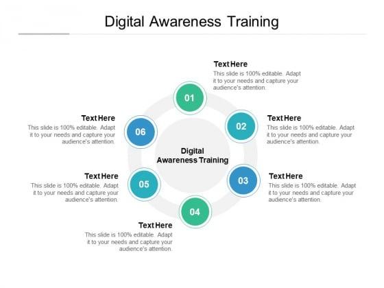 Digital Awareness Training Ppt PowerPoint Presentation Styles Gallery Cpb Pdf