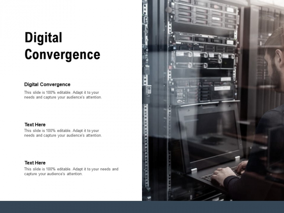 Digital Convergence Ppt PowerPoint Presentation Icon Graphics Example Cpb