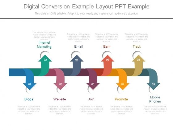 Digital Conversion Example Layout Ppt Example