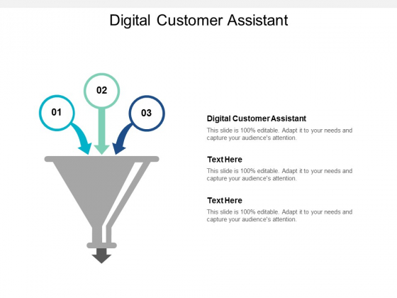Digital Customer Assistant Ppt PowerPoint Presentation Ideas Show Cpb