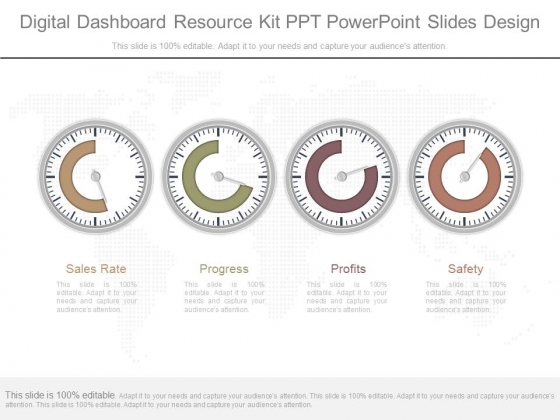 Digital Dashboard Resource Kit Ppt Powerpoint Slides Design