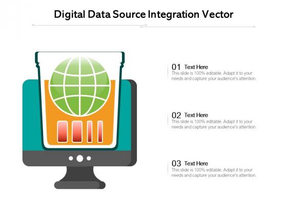 Digital Data Source Integration Vector Ppt PowerPoint Presentation Gallery Summary PDF