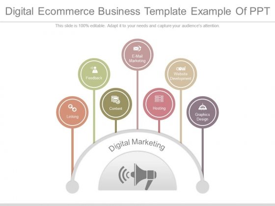 Digital Ecommerce Business Template Example Of Ppt