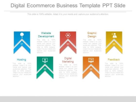 Digital Ecommerce Business Template Ppt Slide