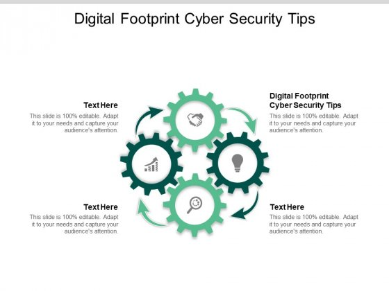 Digital Footprint Cyber Security Tips Ppt PowerPoint Presentation Infographic Template Backgrounds Cpb