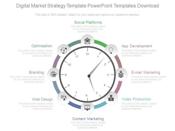 Digital Market Strategy Template Powerpoint Templates Download