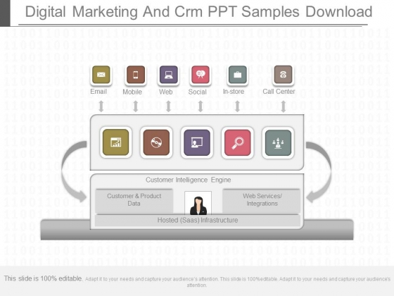 Digital Marketing And Crm Ppt Samples Download