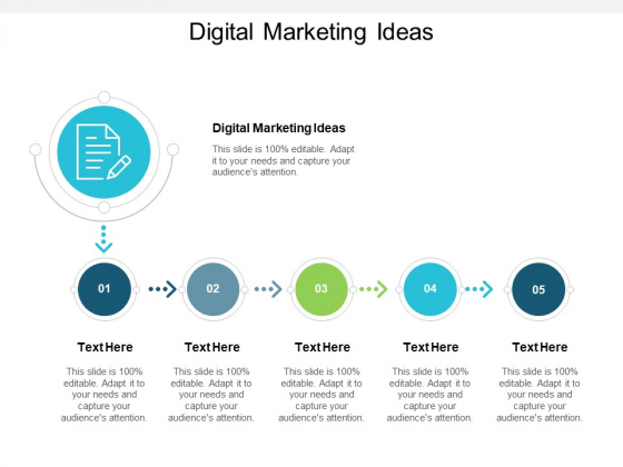 Digital Marketing Ideas Ppt PowerPoint Presentation Pictures Slide Download Cpb