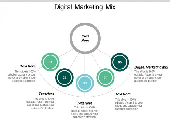 Digital Marketing Mix Ppt PowerPoint Presentation Icon Graphics Pictures Cpb