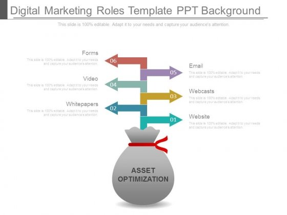 Digital Marketing Roles Template Ppt Background