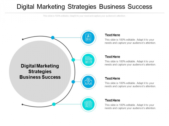Digital Marketing Strategies Business Success Ppt PowerPoint Presentation Inspiration Background Designs Cpb Pdf
