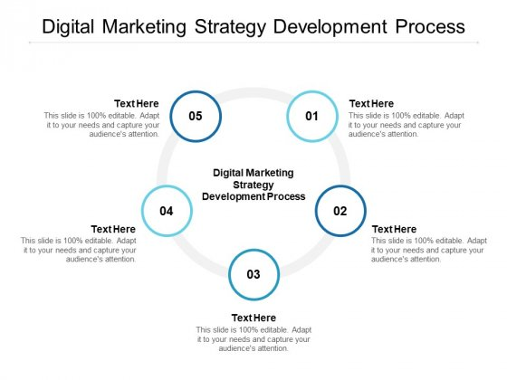 Digital Marketing Strategy Development Process Ppt PowerPoint Presentation Ideas Vector Cpb