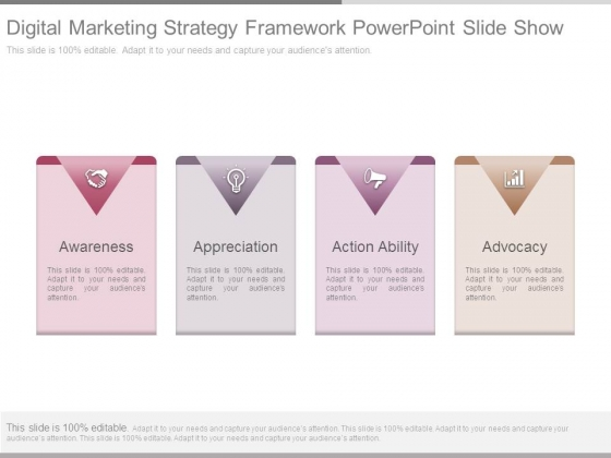 Digital Marketing Strategy Framework Powerpoint Slide Show