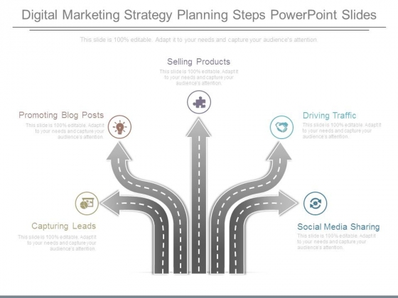 Digital Marketing Strategy Planning Steps Powerpoint Slides