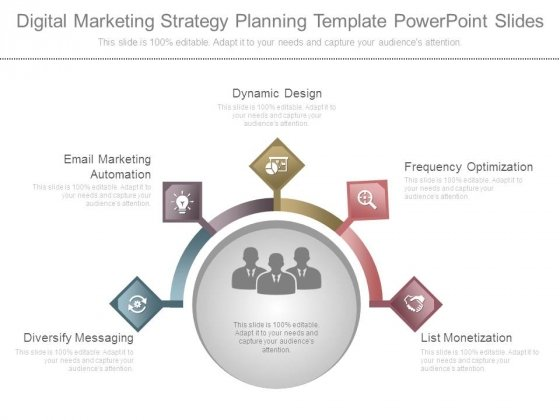 Digital Marketing Strategy Planning Template Powerpoint Slides
