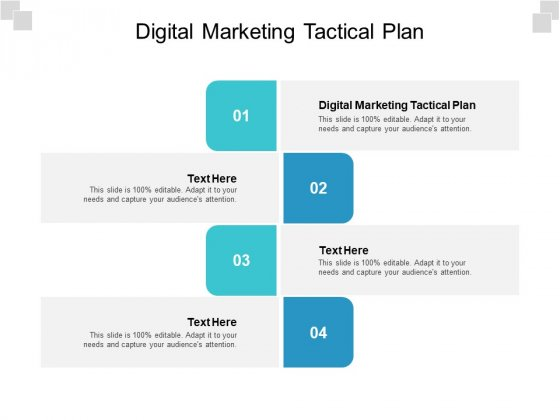 Digital Marketing Tactical Plan Ppt PowerPoint Presentation Model Styles Cpb Pdf