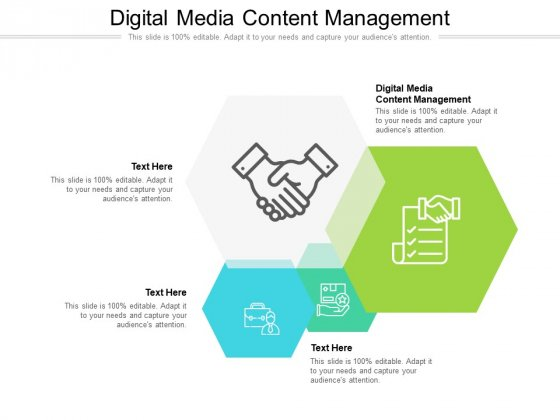 Digital Media Content Management Ppt PowerPoint Presentation Model Inspiration Cpb Pdf