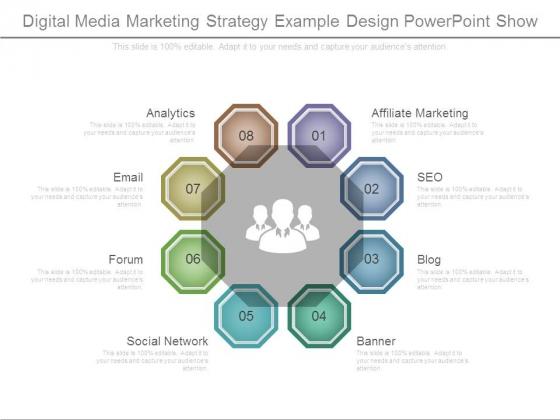 Digital Media Marketing Strategy Example Design Powerpoint Show