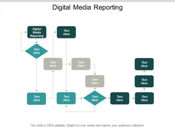 Digital Media Reporting Ppt Powerpoint Presentation Slides Information Cpb