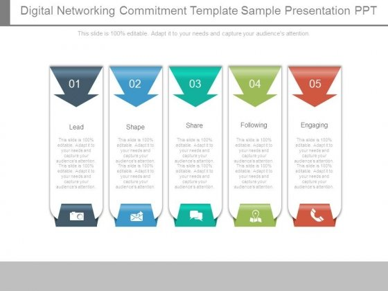 Digital Networking Commitment Template Sample Presentation Ppt