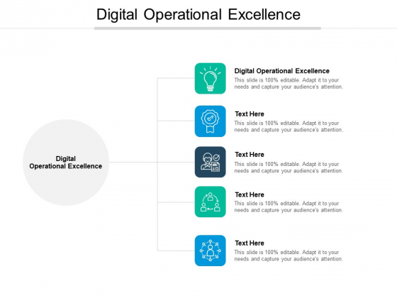 Digital Operational Excellence Ppt PowerPoint Presentation Styles Clipart Images Cpb Pdf