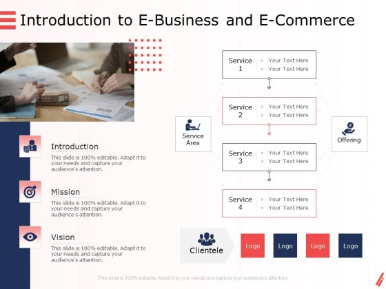 Digital Products And Services Introduction To E Business And E Commerce Ppt Infographic Template Example 2015 PDF