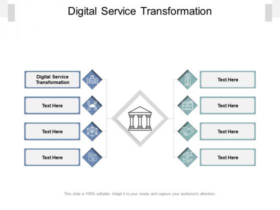 Digital Service Transformation Ppt PowerPoint Presentation Icon Example Topics Cpb Pdf