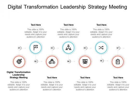 Digital Transformation Leadership Strategy Meeting Ppt PowerPoint Presentation Inspiration Ideas Cpb