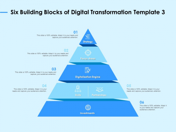 Digital Transformation Strategies Six Building Blocks Of Digital Transformation Strategy Ppt Infographic PDF