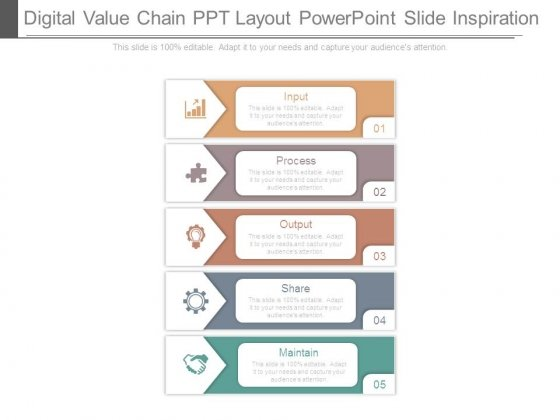 digital value chain ppt layout powerpoint slide inspiration