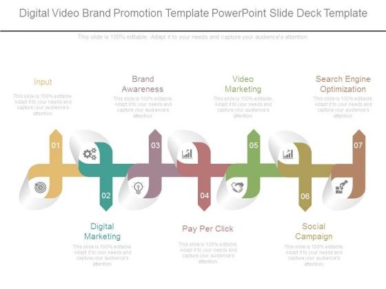 Digital Video Brand Promotion Template Powerpoint Slide Deck Template
