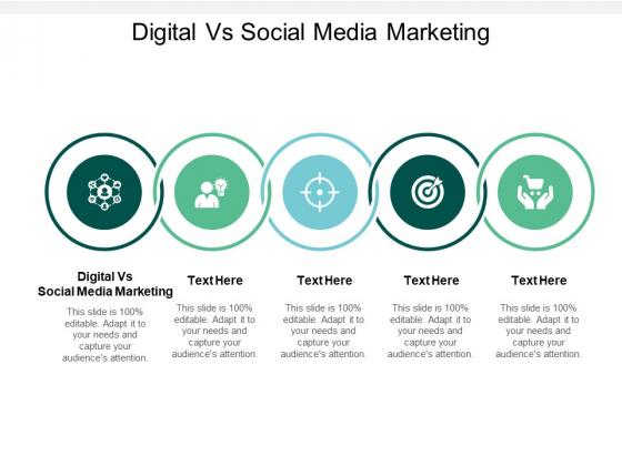 Digital Vs Social Media Marketing Ppt PowerPoint Presentation Portfolio Infographic Template Cpb