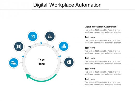 Digital Workplace Automation Ppt PowerPoint Presentation Icon Example Topics Cpb Pdf