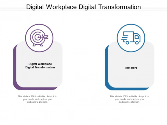 Digital Workplace Digital Transformation Ppt PowerPoint Presentation Infographics Example Introduction Cpb Pdf