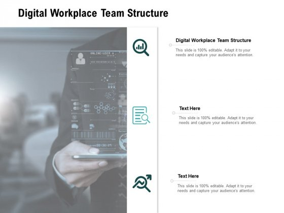 Digital Workplace Team Structure Ppt PowerPoint Presentation Ideas Graphics Cpb Pdf