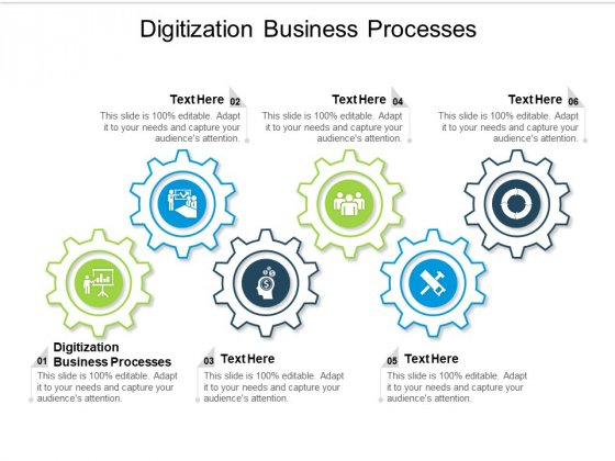 Digitization Business Processes Ppt PowerPoint Presentation Outline Layout Ideas Cpb