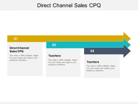Direct Channel Sales CPQ Ppt PowerPoint Presentation Outline Example Topics Cpb Pdf