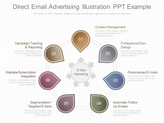 Direct Email Advertising Illustration Ppt Example
