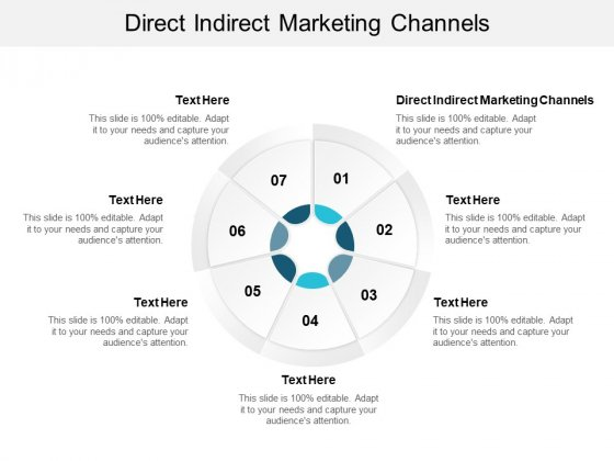 Direct Indirect Marketing Channels Ppt PowerPoint Presentation Layouts Images Cpb