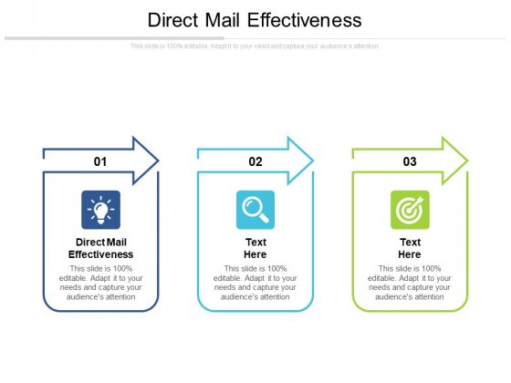 Direct Mail Effectiveness Ppt PowerPoint Presentation Styles Microsoft Cpb