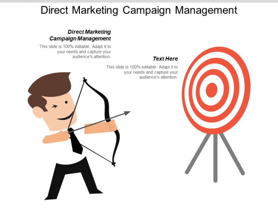Direct Marketing Campaign Management Ppt PowerPoint Presentation File Files Cpb