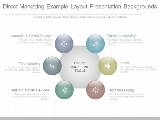 Direct Marketing Example Layout Presentation Backgrounds